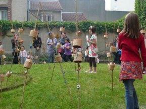 Juin 2009. Vue de l'installation dans le jardin de l'école élémentaire Carnot, Noisy le sec