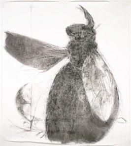 170*150 cm - 2006 Crayon à la cire et cirage sur papier