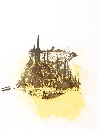65*50 cm - 2007 Résine de goudron de pin, huile sur papier