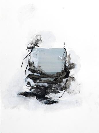 Sans titre - Miséricordia Acrylique et encre sur photo imprimée sur papier. 40x30 cm - 2017